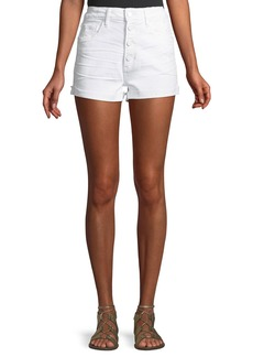 Paige Denim Sarah Button-Fly Denim Cutoff Shorts