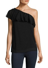 Paige Shandi Silk-Blend One-Shoulder Top