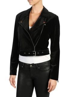 Paige Denim Shanna Velvet Moto Jacket