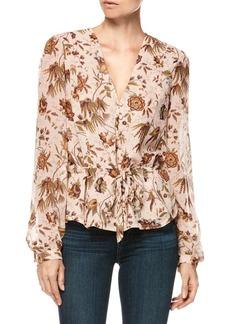 Paige Denim Silk Carmona Floral Blouse