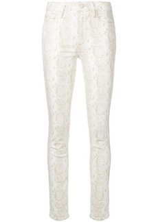 Paige Denim snakeskin print skinny trousers
