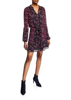Paige Sonoma Floral Button-Front Silk Dress