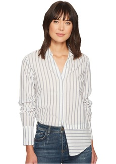 Paige Denim Tennnessee Top in Papyrus/China Blue Banker Stripe