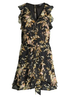 Paige Tia Floral Tie-Waist Dress