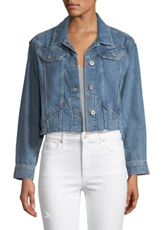 2c825be536 Paige Denim PAIGE Tori Cropped Button-Front Denim Jacket