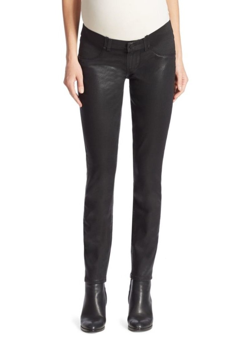 Paige Denim Verdugo Coated Skinny Maternity Jeans