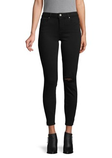 Paige Distressed Skinny Ankle Jeans