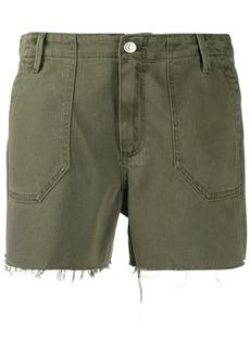 Paige frayed hem denim shorts