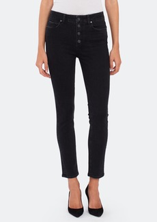 Paige Hoxton High Rise Slim Button Fly Jeans - 32