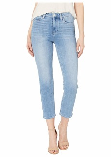 Paige Hoxton Slim Crop w/ Linear Coin Pocket Jeans in Lo-Fi Distressed