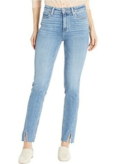 Paige Hoxton Slim Jeans w/ Twisted Seam and Raw Hem in Florencia