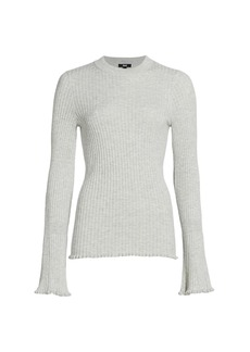 Paige Iona Ribbed Bell-Sleeve Sweater