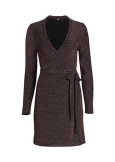 Paige Lucielle Metallic Knit Wrap Dress