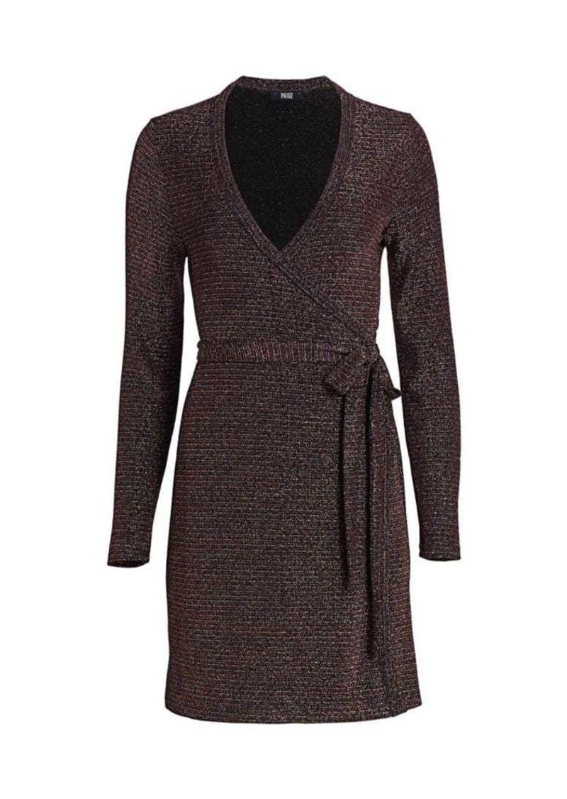 Paige Lucielle Metallic Knit Wrap Dress
