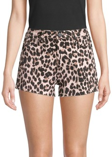 Paige Margot Leopard Jean Shorts