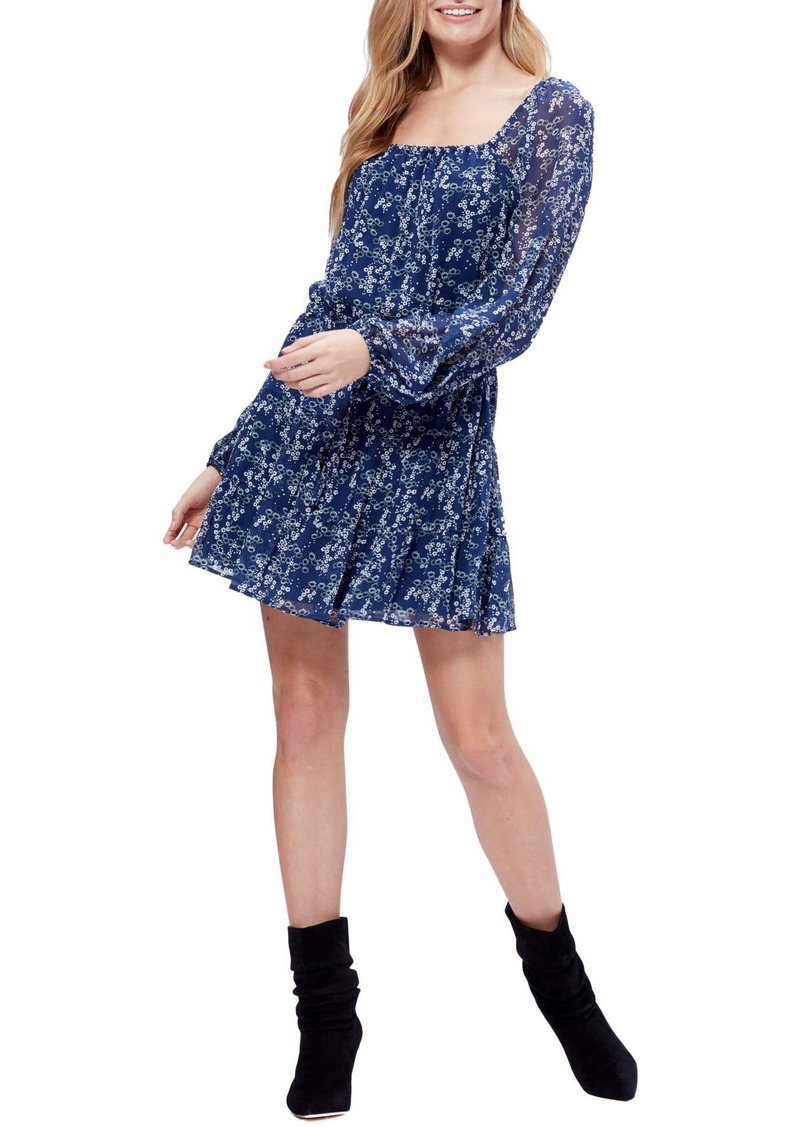 Paige Marjoram Floral Silk Mini Dress