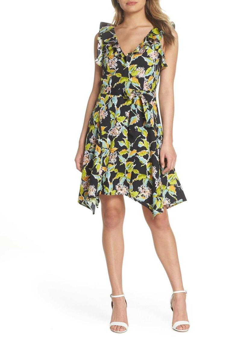 Paige Meera Ruffle Fit & Flare Dress