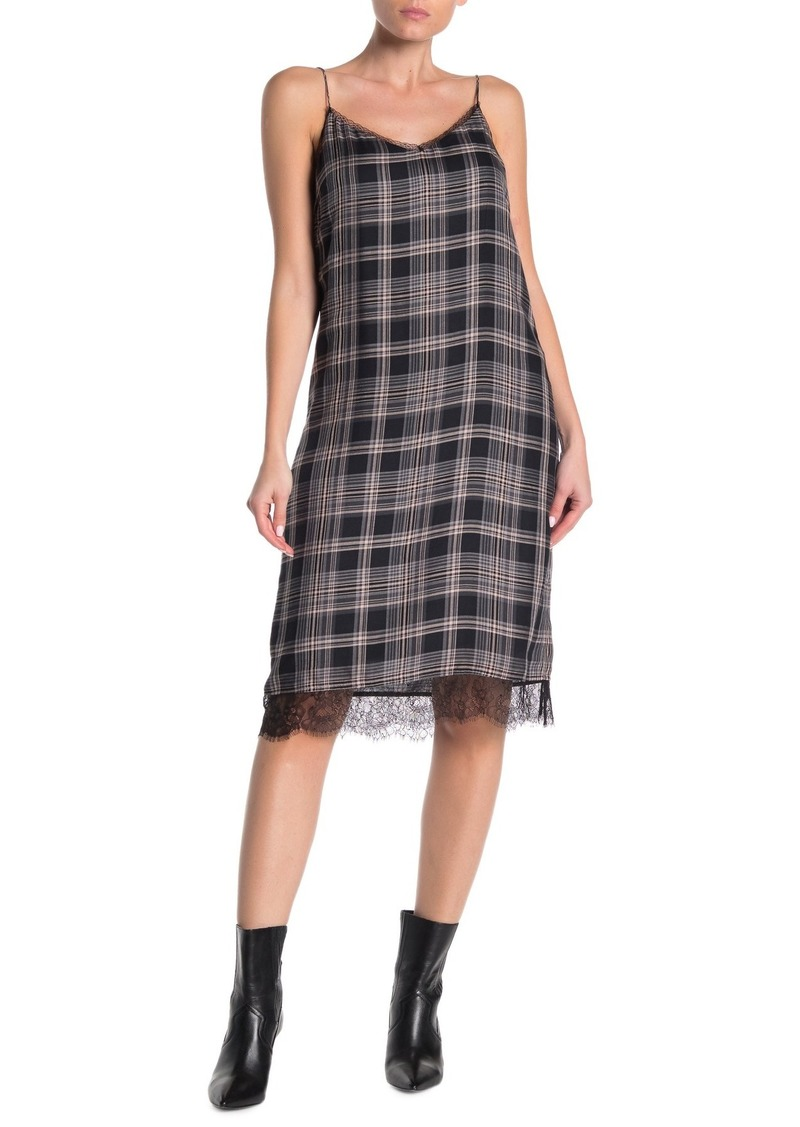 Paige Nereyda Plaid Lace Trim Dress