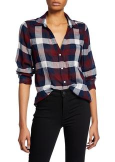 Paige Neve Button-Down Plaid Shirt