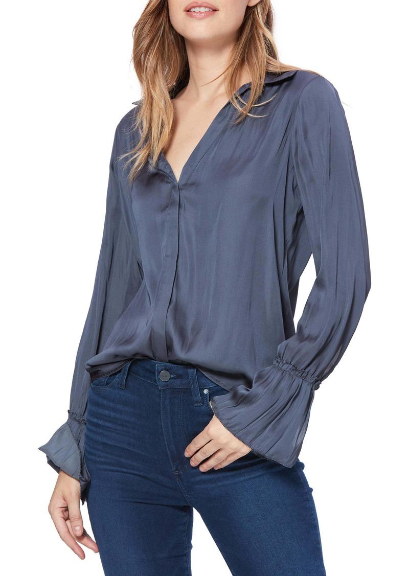 PAIGE Abriana Satin Shirt