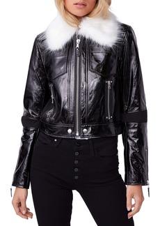 PAIGE Camdyn Faux Fur Leather Jacket