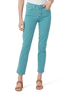 PAIGE Cindy Exposed Button Fly Straight Leg Jeans (Vintage Daytime Blue)