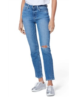 Paige Cindy High Waist Ripped Ankle Straight Leg Jeans (Westbound Destructed)