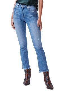 PAIGE Claudine High Waist Distressed Ankle Flare Jeans (Seaspray Distressed)