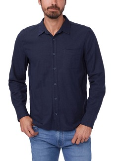 PAIGE Cooper Stretch Linen Blend Button-Up Shirt