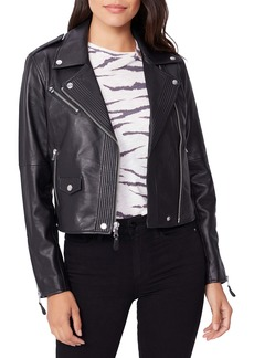 PAIGE Danette Leather Moto Jacket