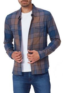 PAIGE Everett Plaid Flannel Button-Up Shirt