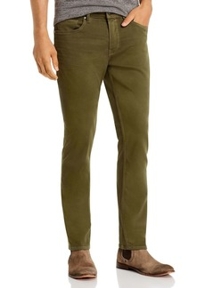 PAIGE Federal Straight Slim Jeans in Olive Night