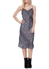 PAIGE Giovanna Leopard Print Slipdress