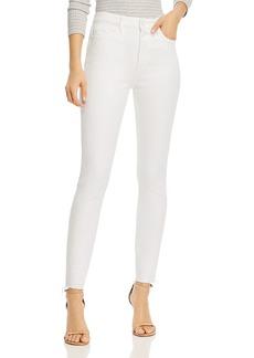 PAIGE Hoxton Frayed Hem Skinny Jeans