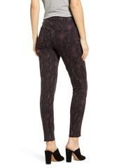 PAIGE Hoxton High Waist Ankle Skinny Jeans (Black Fig Python)