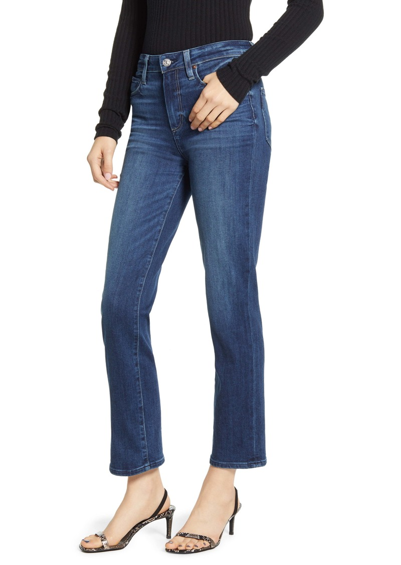 PAIGE Hoxton High Waist Ankle Straight Leg Jeans (Downtown)