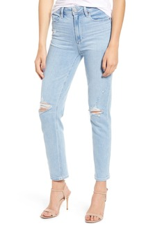 PAIGE Hoxton High Waist Ripped Skinny Jeans (Sumner Destructed)