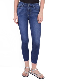 PAIGE Hoxton Raw Hem Crop Skinny Jeans (Farrah)