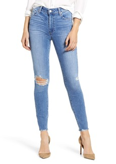PAIGE Hoxton Ripped High Waist Ankle Skinny Jeans (Dezi Destructed)