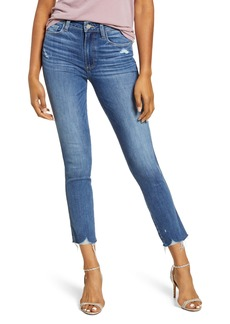 PAIGE Hoxton Ripped High Waist Ankle Skinny Jeans (Jazzie Destructed)