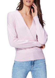 PAIGE Keslee Surplice Cashmere Sweater