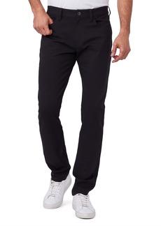 PAIGE Transcend Leyton Slim Straight Leg Pants (Black)