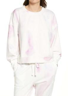 PAIGE Lisbet Balloon Sleeve Tie Dye Cotton Blend Sweatshirt