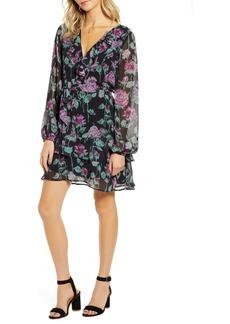 PAIGE Lucette Long Sleeve Silk Minidress
