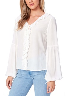 PAIGE Luciano Ruffle Trim Blouse