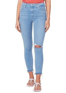 PAIGE Margot Ripped Crop Skinny Jeans (Sunray Destructed)