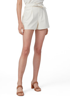 PAIGE Melila Faux Leather Shorts