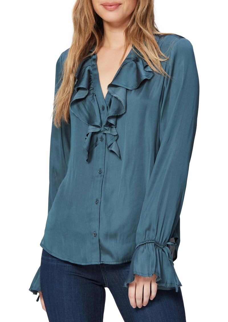 PAIGE Nevynne Ruffle Blouse (Nordstrom Exclusive Color)