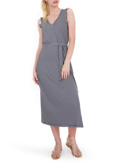 PAIGE Ravyn Stripe Sleeveless Midi Dress
