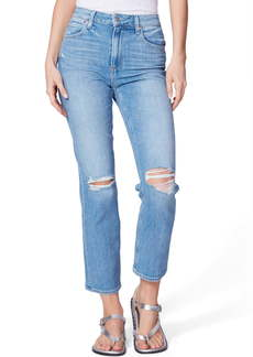 PAIGE Sarah High Waist Ripped Skinny Jeans (Solera Destructed)